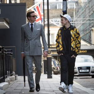 KSS_JB_D01_00128 - Harry (Colin Firth), an impeccably suave spy, helps Eggsy (Taron Egerton) turn his life around by trying out for a position with Kingsman, a top-secret independent intelligence organization.