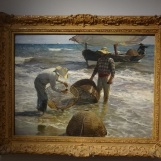 Musée des Impressionnistes - Sorolla Retour de la Pêche Halage de la barque